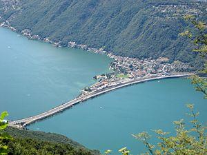 Melide, Switzerland - Melide causeway