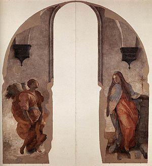 Annunciation (Pontormo) - Image: Pontormoannunciation
