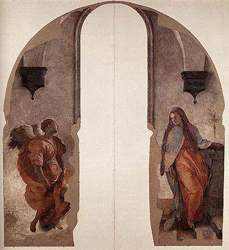 Pontormo - Annunciation, fresco