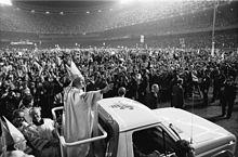 Giovanni Paolo II allo Yankee Stadium di New York nel 1979