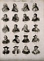 Popes and other churchmen; twenty portraits. Engraving by J. Wellcome V0006826.jpg