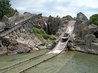 PortAventura World - The Tutuki Splash water ride.