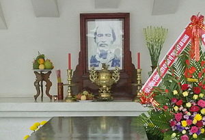 Nguyễn Sinh Sắc - Portrait of Nguyễn Sinh Sắc. in his tomb at Cao Lãnh city