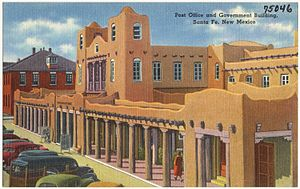 Institute of American Indian Arts - Early 20th Century postcard depicting the Federal Building