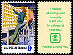 Postal Service Employees - Manual Letter Routing - 8c 1973 issue U.S. stamp.jpg