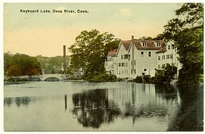 Deep River, Connecticut - Keyboard Lake, from an early postcard
