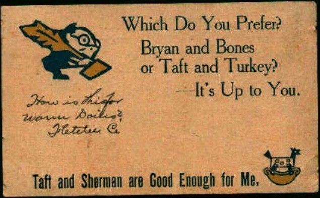 PostcardTaftShermanPresidentialCampaign1908
