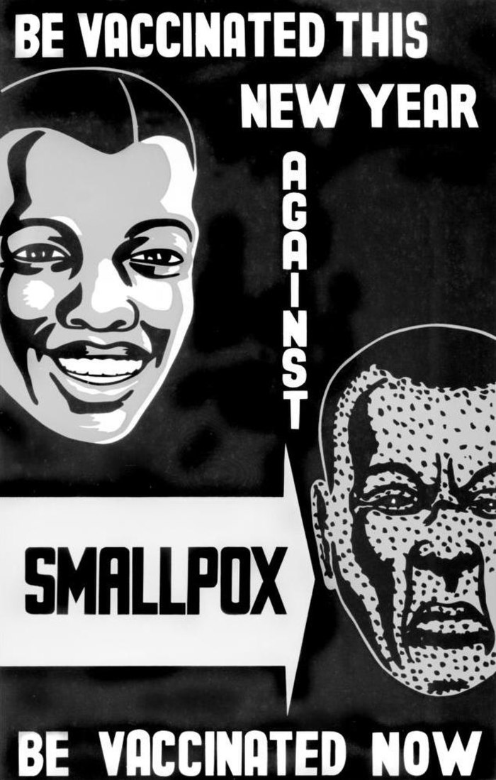 Poster for vaccination against smallpox