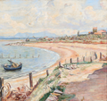 Poul S. Christiansen - Ved Arnos udløb nær La Marina di Pisa - 1911.png