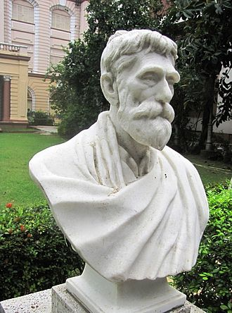 Prafulla Chandra Ray - Bust of Prafulla Chandra Ray which is placed in the garden of Birla Industrial & Technological Museum