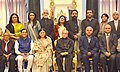 Pranab Mukherjee with the special invitees and jury of 100 Women Achievers Contest of Women and Child Development Ministry in collaboration with Facebook, at Rashtrapati Bhavan.jpg