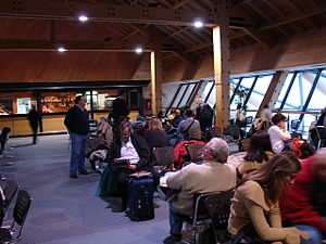 Ushuaia – Malvinas Argentinas International Airport - Image: Preembarque Aeropuerto de Ushuaia