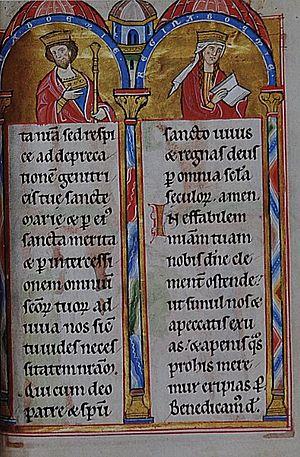 Ottokar I of Bohemia - Ottokar and Constance, from the Landgrafenpsalter  (1211–13)