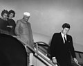 President John F. Kennedy Attends Arrival Ceremonies for Jawaharlal Nehru, Prime Minister of India.jpg
