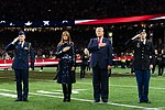 President Trump and First Lady Melania Trump at the College Football Playoff National Championship (49385077391).jpg