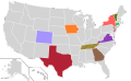 Presidential Candidate Home State Locator Map, 2000 (United States of America) (Expanded).png