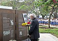 Prime Minister Narendra Modi pays homage to INA martyrs at the Indian National Army Memorial Marker in Singapore.jpg