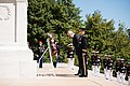 Prime Minister of the Republic of Albania lays a wreath at the Tomb of the Unknown Soldier in Arlington National Cemetery (26412572885).jpg