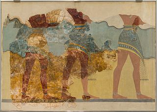 Procession fresco from Knossos