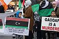 Protest In Dublin Gaddafi Is A Murderer.jpg
