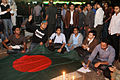 Protesters at Shahbag people with flag.JPG
