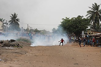 The 2017-18 Togolese protests against the 50-year-rule of the Gnassingbe family Protests in Lome, Togo, 18 octobre 2017 04.jpg
