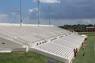 Lamar Cardinals and Lady Cardinals - Image: Provost Umphrey Stadium View of east side seating