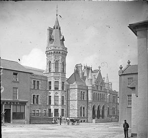 Edward Henry Cooper - The courthouse in Sligo, pictured in about 1888, where the nominations were held for the 1868 elections for County Sligo