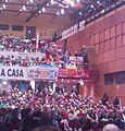 Pubblico leghista con bandiera Catalogna, Genova, 2012.jpg