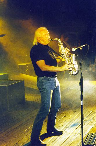 Puhdys - Keyboardist Peter Meyer is also the band's saxophone player.