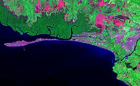 Image satellite de Puntarenas