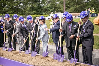 Purple Line (Maryland) - Groundbreaking ceremony of the Purple Line on August 28, 2017.