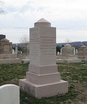 Pushmataha - Grave of Pushmataha in Congressional Cemetery (Washington, DC, US)