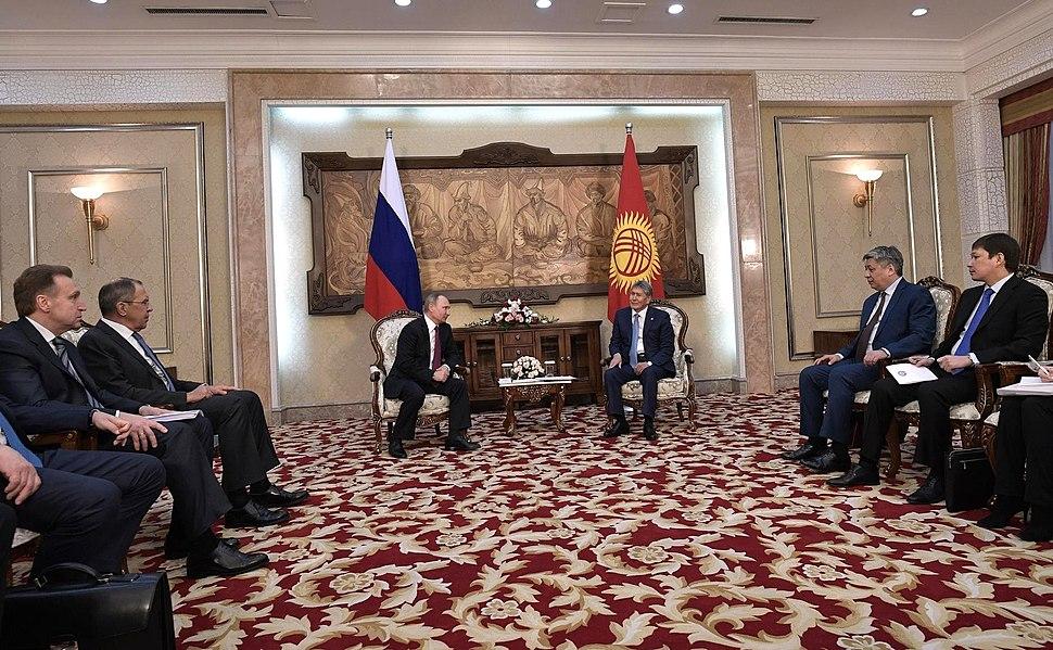 Putin in Kyrgyzstan 2017 02