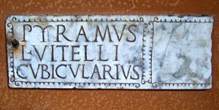 "Titulus (inscription) ""Title"" plaque, usually referring to those written in Classical Latin"