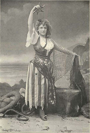 The Queen of Brilliants - Russell as Betta in Act I, dressed as a fisher girl