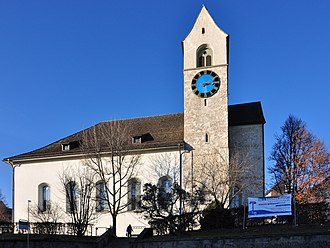 Rüti Abbey - As seen from Bandwiesstrasse