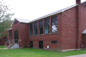 Riverview High School (New Brunswick) - View of the original school, built in 1962. This building now forms a wing of Riverview Middle School on Devere Road, Riverview, New Brunswick.
