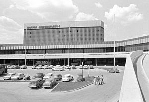 Sheremetyevo International Airport - Sheremetyevo-2 (now known as Terminal F) was built for the 1980 Moscow Olympics.