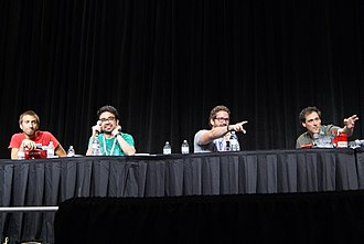 Rooster Teeth Podcast - A live presentation of the podcast at RTX 2013, featuring Gavin Free, Gus Sorola, Burnie Burns, and Joel Heyman.