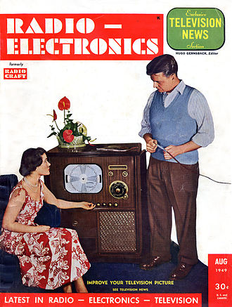 Radio-Electronics - Image: Radio Electronics Cover August 1949