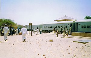 Rail transport in Sudan - Railway station in northern Sudan