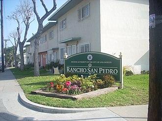 Rancho San Pedro (public housing) - Rancho San Pedro sign
