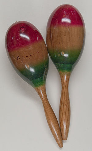 Rattle (percussion instrument) - Maracas from Mexico