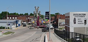Ravenna, Nebraska - Downtown Ravenna during Annevar festival