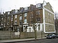 Rear view of London town houses - geograph.org.uk - 1508620.jpg