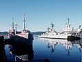 Recommissioning of USS Sphinx (ARL-24) at Puget Sound in 1985.JPEG