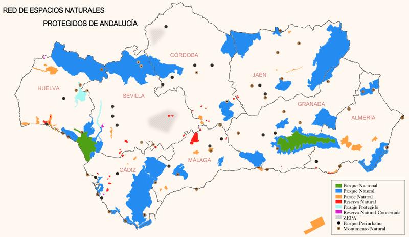 Archivo:Red de Espacios Naturales Protegidos de Andalucía.png