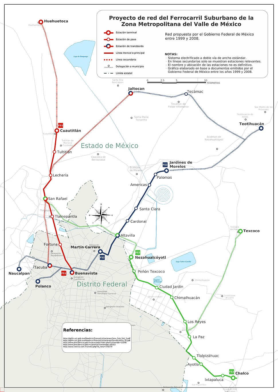 Red del Ferrocarril Suburbano de la Zona Metropolitana del Valle de México