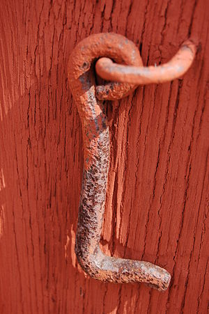 Latch (hardware) - A cabin hook latch